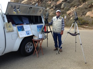 Bob Isenberg at the Pacific Coast Peregrine Watch