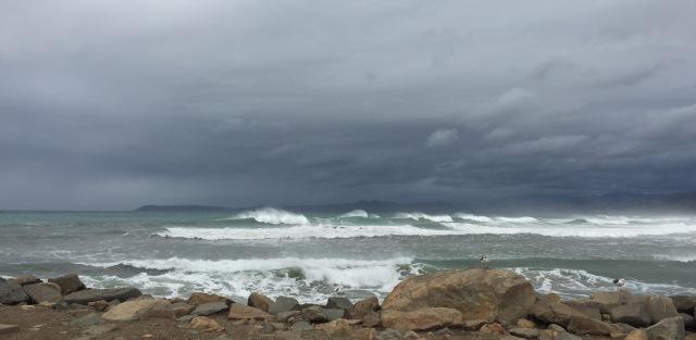 North side surf.  Morro Rock, Morro Bay CA